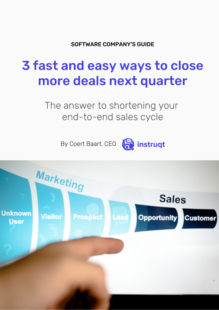 The answer to shortening your  end-to-end sales cycle